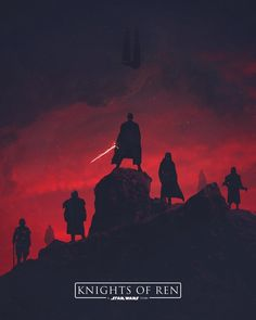 Knights of Ren. Who else hopes to find these guys in Episode IX? #Art by: @maxbeechcreative -
