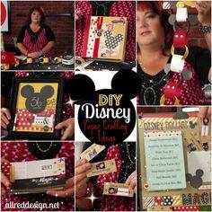 Disney Paper Crafting DIY Ideas- darling ideas for a Disneyland vacation count down! #disney
