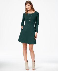 Maison Jules Long-Sleeve Pocket Dress, Only at Macy's - Maison Jules - Women - Macy's