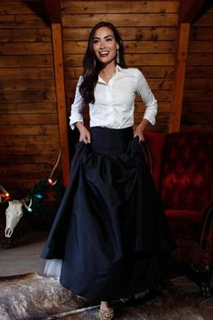 Merry Ball Maxi Skirt with Tulle