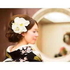 胡蝶蘭のヘッドドレス  Ordermade Wedding Flower Item MY Flower  http://ameblo.jp/eiferschtig/  お問い合わせ ...