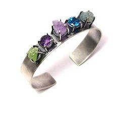 Secret Life of Jewelry - A Universe of Handcrafted Art to Wear: Joanna Gollberg Jewelry - Beauty in all Aspects Rock Jewelry, Metal Jewelry, Crystal Jewelry, Jewelry Art, Gemstone Jewelry, Sterling Silver Jewelry, Jewelry Design, Designer Jewelry, Silver Bracelets