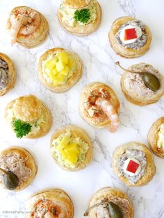 Retro Vol-au-Vent Party Appetizers - learn to make puff pastry shells recipe plus 4 delicious fillings for any occasion or celebrations!