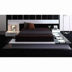 strada nova bed - Modern Platform Bed