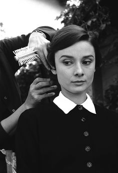 Audrey Hepburn transforms into her character Sister Luke for The Nun's Story, 1958.