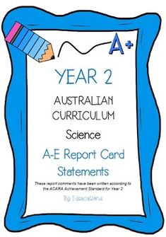 Australian Curriculum Report Comments Year   Economics