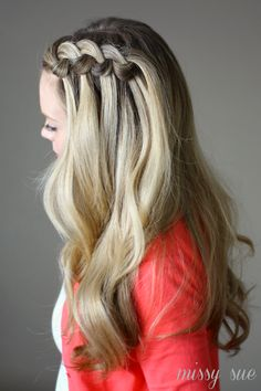 Swirled Knot Braid. This is how I did my hair this morning. So easy, it only took 5 minutes. Love it!