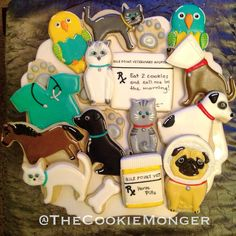 Veterinarian Cookies @TheCookieMonger Email thecookiemonger@outlook.com for ordering info