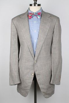Polo Ralph Lauren Grey Slim-Fit Puppytooth Linen Blazer | Mens ...