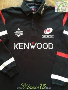 Relive Saracen's 1997/1998 season with this original Cotton Oxford home rugby shirt.
