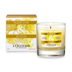 Fleur d'Or & Acacia Perfumed Candle   La Collection de Grasse   L'OCCITANE en Provence   Sweden