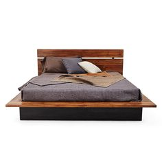 Modern Black Stained Teak Wood Bed Frame Mixed With Brown Lacquer Bed Board Using Dark Gray Bed Linen And Assorted Color Cushions, Endearing Teak Bed Frame Design For Bedroom Interior: Bedroom, Furniture