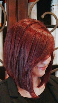 Asymmetric red hair