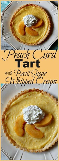 Simple and straightforward to make, this fresh peach dessert recipe is simply delightful. You just need some sugar, a lot of egg yolks andthe desire to present an impressive creamy dessert. This Fresh Peach Curd was a perfect pairing for some Basil Sugar Whipped Cream.