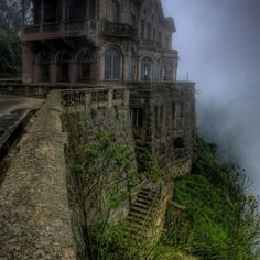 El Hotel del Salto - Colombia Hotel del Salto was built in 1928 for wealthy tourists visiting the nearby Tequendama Falls. Eventually, the waterfall was contaminated and visitors lost interest, leading to the hotel's abandonment.