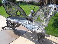 Dragonfly Bench at The Fountains, Roseville