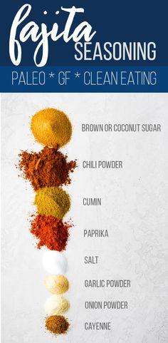 Fajita Seasoning Mix, Homemade Fajita Seasoning, Chicken Seasoning, Fajita Spices, Homemade Spices, Homemade Seasonings, Clean Eating Vegetarian, Eating Vegan, Healthy Eating