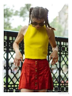 no. 001 photo: Nanni Gabrielle. stylist: Ximena Mandujano. model: Ana Arenas. makeup & hair: Luisiana López. kicks: Reebok. top: Zara, falda: Forever21, hoodie & kicks: Reebok. http://maplemag.com/ #MapleMag #InherentNature #ForYoungHearts