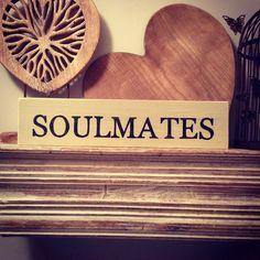 Handmade Wooden Sign  SOULMATES  Rustic Vintage by LoveLettersMe