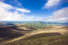 View from the Valleys, from Pen y Fan in the Brecon Beacons.