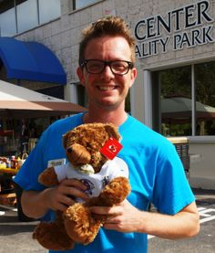 Dab the Anti-Bullying Bear and friend at Community Day Festival