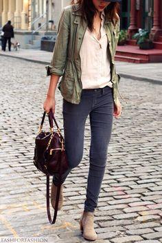 I like the layers / light jacket