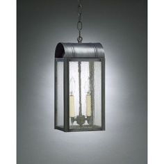 Northeast Lantern Livery 2 Light Outdoor Hanging Lantern Finish: Antique Brass, Shade Type: Clear Seedy
