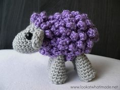 Shorn the Sheep - Free by Anette Bak & Dedri Uys of Look At What I Made / Sheep Part 1 - Animal Crochet Pattern Round Up - Rebeckah's Treasures