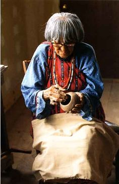 Maria (the Potter) Martinez, (1887–1980) San Ildefonso Pueblo, New Mexico (my great great aunt)