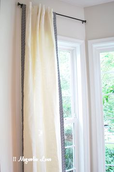 An easy way to update IKEA curtains with greek key trim {inexpensive source}
