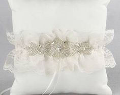 Cecilia Ivory Ring Pillow