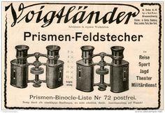 Original-Werbung/Inserat/ Anzeige 1907 :  VOIGTLÄNDER PRISMEN-FELDSTECHER - ca.100 X 180 mm
