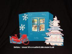 wenskaarten met beweging scrapcards 3d kaart scrapcaarten dutchdesigndies mar10=creatief papercraft Karten Basteln Julekort Yulekort kort postcard