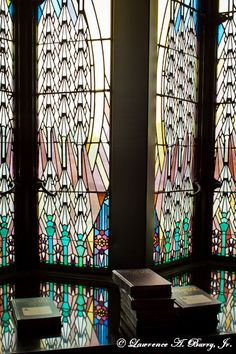 Stained glass from the Tulsa Boston Avenue United Methodist Church