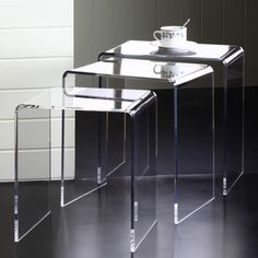 Acrylic Nesting End Tables (Set of 3)   Overstock.com Shopping - The Best Deals on Coffee, Sofa & End Tables