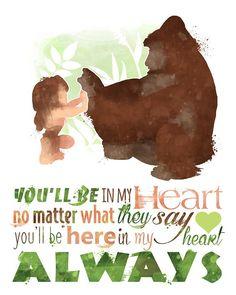 "Tarzan ""You will Be in my Coronary heart"" Printable Poster - DIGITAL / Immediate Obtain / Disney Nursery Wall Artwork / Dwelling Decor / Quote Disney Pixar, Disney Fun, Disney And Dreamworks, Disney Magic, Disney Characters, Tarzan Disney, Funny Disney, Images Disney, Pinturas Disney"
