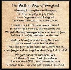 Benghazi......,  I think this is the feeling of the general population and it should be pursued until something is done with the incompetent ones involved which literally sat there in the White house and watched their execution on live streaming video and did absolutely nothing!