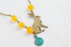 Bunny Charm Necklace - Kim Jewelry Design