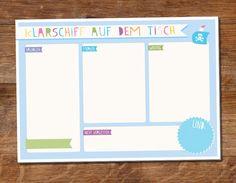 """Notizblock """"Klarschiff"""" A5, hellblau von Maid und Held auf DaWanda.com"""