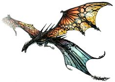 Stained glass dragon!