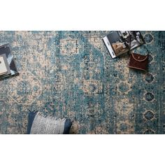 Found it at Joss & Main - Holly Light Blue/Ivory Area Rug