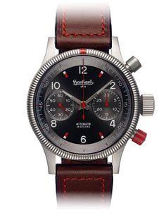 Hanhart USA | Hanhart Pioneer Red X Chronograph #hanhart German Swiss Watchmakers #horlogerie #chrono @calibrelondon