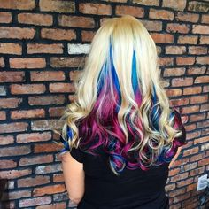 Love this! Colorful hair.
