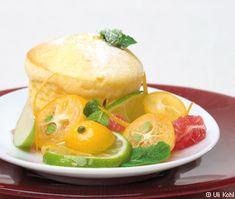 Topfen-Orangen-Soufflé mit Zitrus-Fruchtsalat