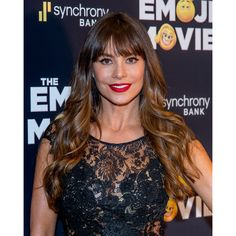 No one doubts that Sofia Vergara has a ton of hair. But if her bangs were as thick as the length, they could look heavy and curtain-like. That's why this thinned-out fringe works so well. If the bangs start sticking to the forehead, mist a dry shampoo at the roots and massage through bangs with your fingertips.