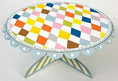 Patterned Party Cake Stand