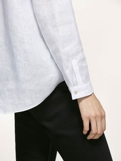 CAMISA LINO LISA de MUJER - Camisas y Blusas - Ver todo de Massimo Dutti de Primavera Verano 2017 por 995. ¡Elegancia natural!