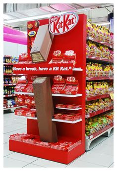 Awesome Nestle Kitkat Gondola End | Gondola Display | point of purchase at thesellingpoints.com
