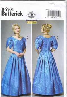 Many cosplay costume sewing patterns like this one are available in my ebay store. Butterick 6501 Victorian Dress & Chemisette