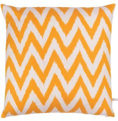 Silk Ikat Cushion Gold by The Rug Company